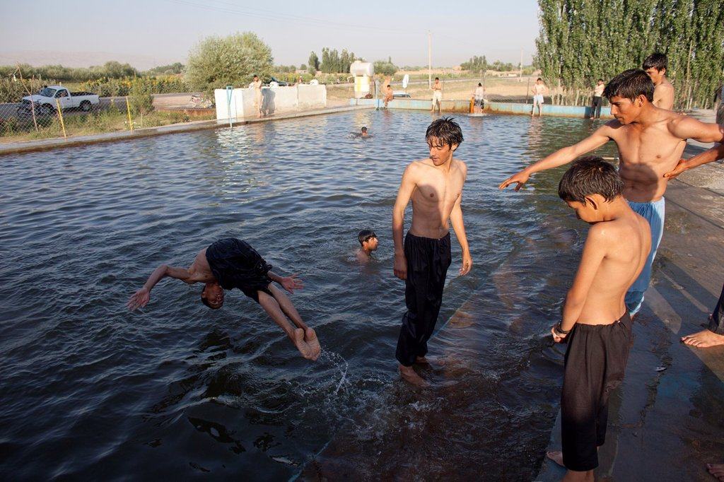swimming pool in Kunduz, Afghanistan : Stock Photo