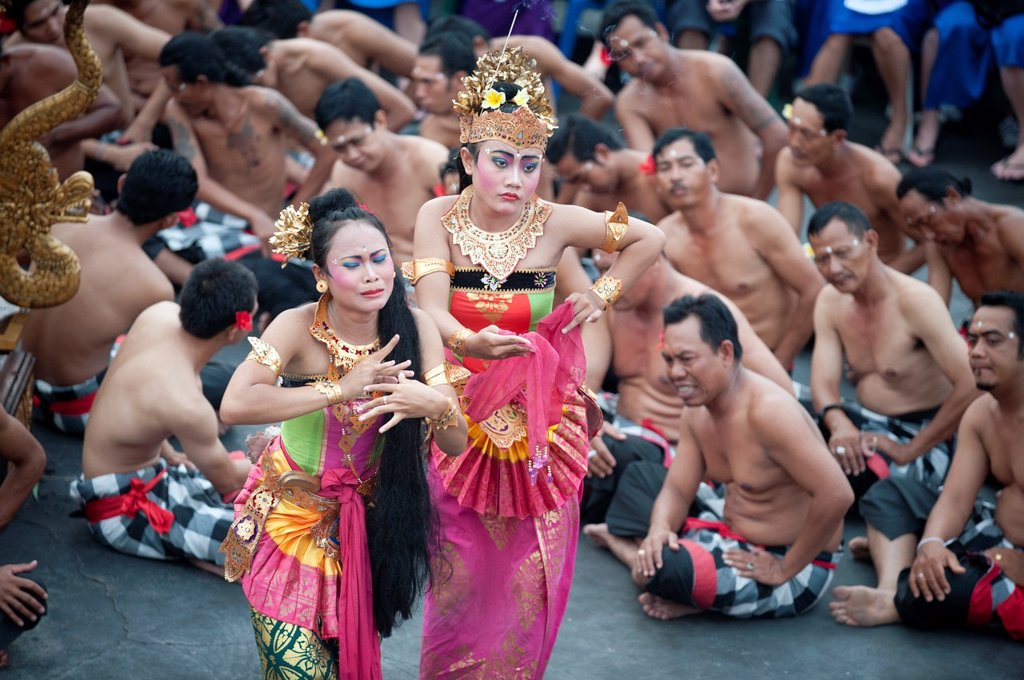 Kecak dance in bali island, indonesia,southeast Asia : Stock Photo