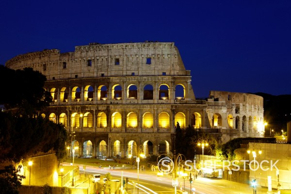 Italy, Rome, Colosseum, Colosseo : Stock Photo