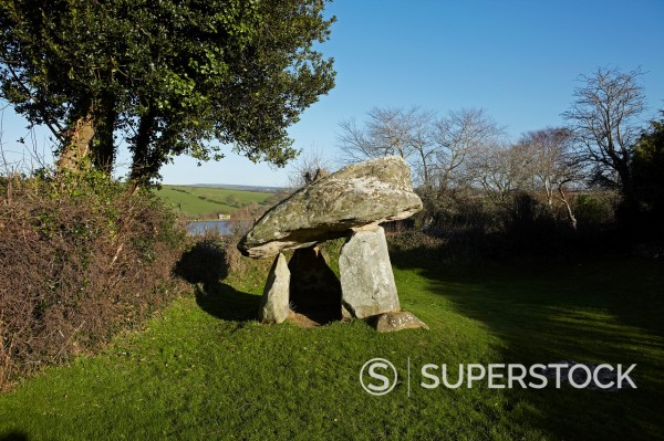 Carreg Coetan, Newport, Pembrokeshire, Wales, UK : Stock Photo