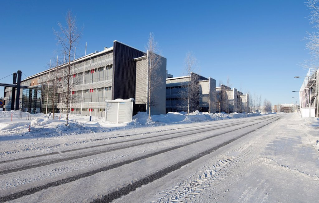 Stock Photo: 1566-1011680 Oulun teknologiakylä, Oulu Technology Park, Linnanmaa  Premises of various Finnish high-tech companies like Nokia, Tieto, Sonera etc  Location Elektroniikkatie Linnanmaa Oulu Finland Scandinavia Europe