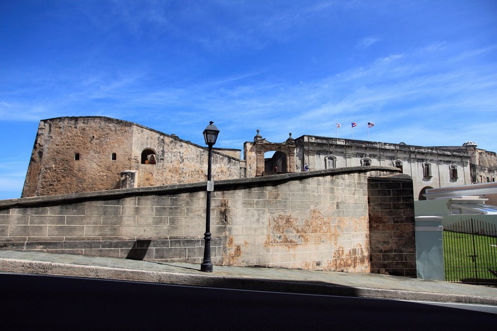 Stock Photo: 1566-1011831 San Cristobal Fort, Castillo de San Cristobal, UNESCO World Heritage Site, Old San Juan, San Juan, Puerto Rico, USA, Caribbean