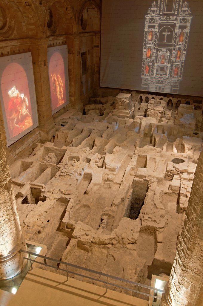 Stock Photo: 1566-1012571 Mayor Abbey Church-interior  La Mota Fortress  Alcala la Real  Jaen-province  Spain
