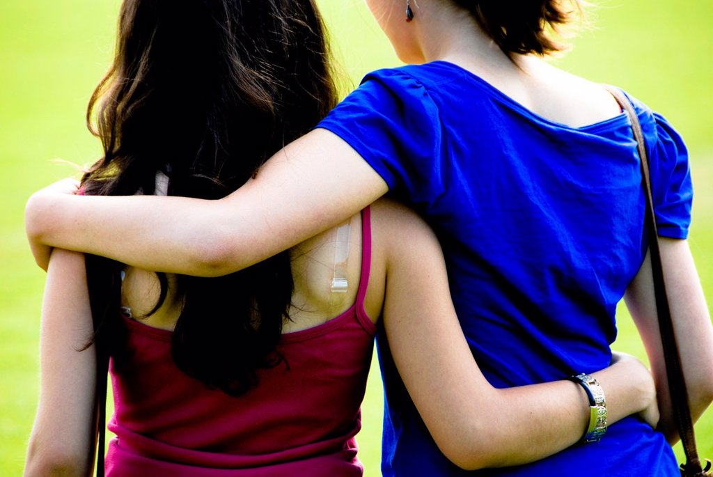 Stock Photo: 1566-1013559 Homosexual girls holding in their arms