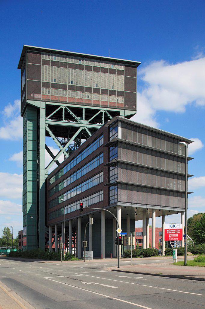 Stock Photo: 1566-1014027 D-Dortmund, Ruhr area, Westphalia, North Rhine-Westphalia, NRW, D-Dortmund-Eving, former colliery Minister Stein, hard coal mine, hammerhead pit tower