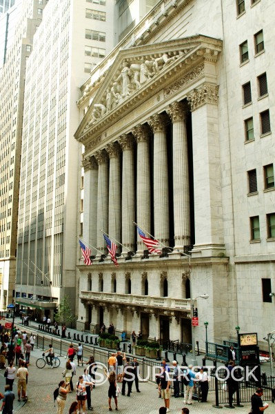 Stock Photo: 1566-1014496 New York stock exchange, New York City, New York, USA
