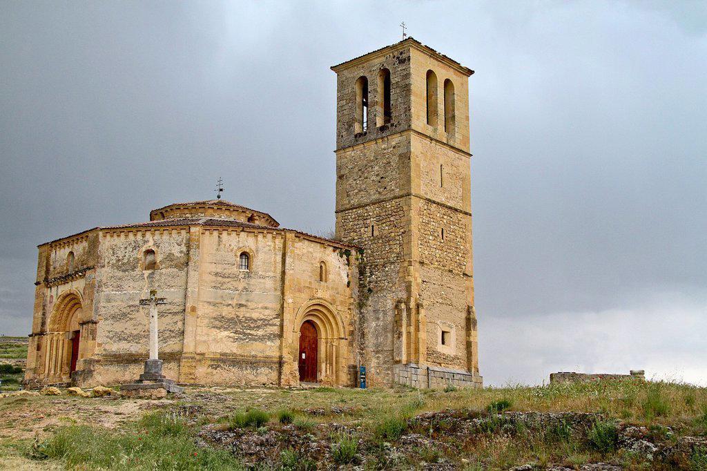 Stock Photo: 1566-1014706 Church of Vera Cruz, near Segovia, Castile La Mancha, Spain