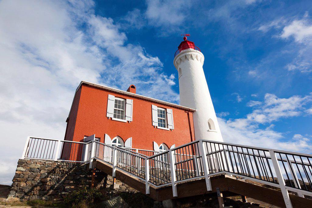 Stock Photo: 1566-1014816 Canada, British Columbia, Vancouver Island, Victoria, Fisgard Lighthouse, exterior