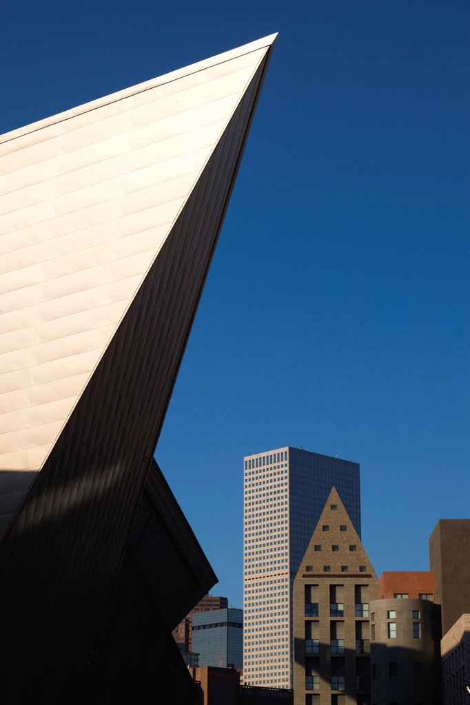 Stock Photo: 1566-1014983 USA, Colorado, Denver, Denver Art Museum, designed by Daniel Liebeskind and Davis Partnership Architects