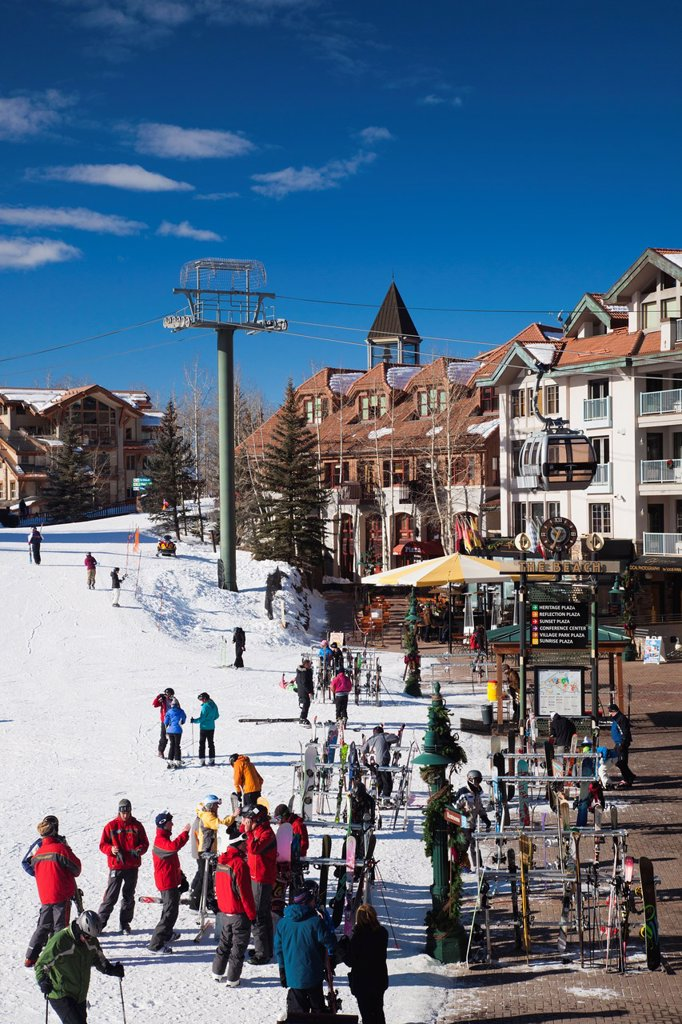 Stock Photo: 1566-1015094 USA, Colorado, Telluride, Mountain Village Ski Area