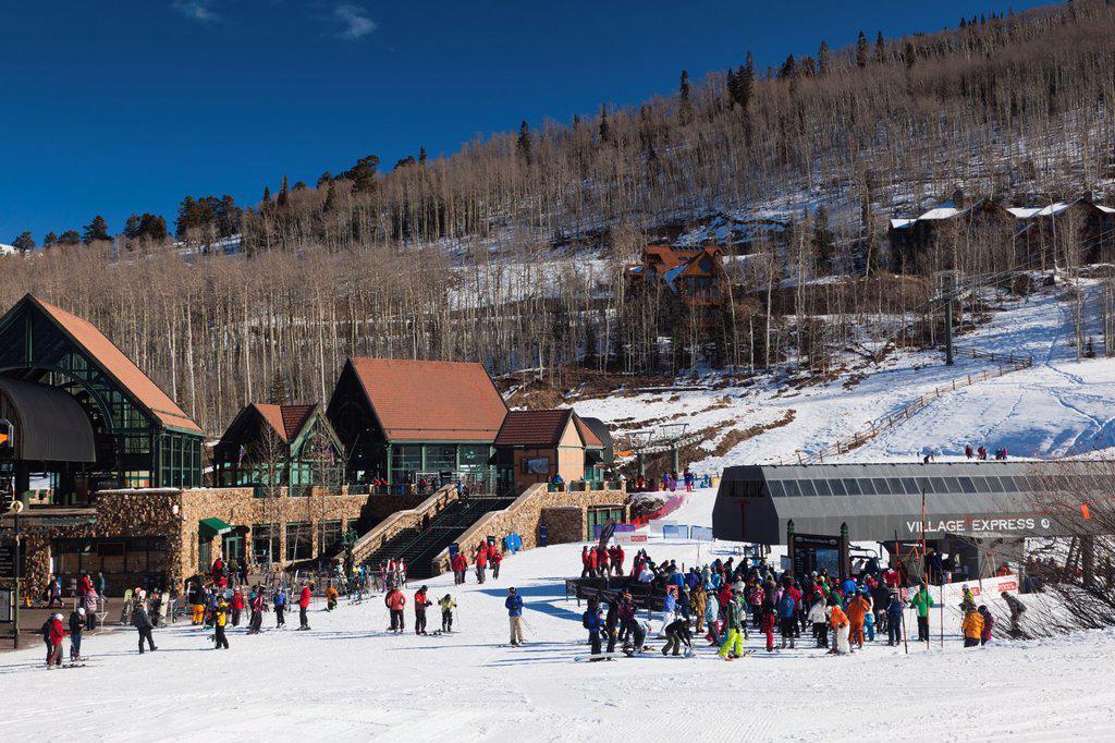 Stock Photo: 1566-1015095 USA, Colorado, Telluride, Mountain Village Ski Area