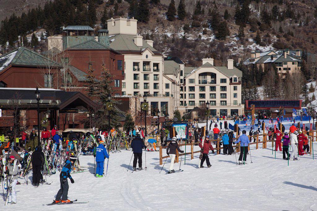 Stock Photo: 1566-1015137 USA, Colorado, Beaver Creek, Beaver Creek Ski Resort