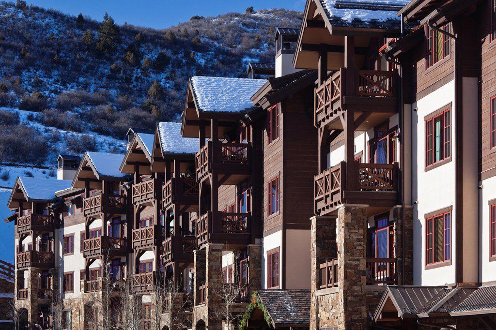 Stock Photo: 1566-1015142 USA, Colorado, Beaver Creek, ski condos
