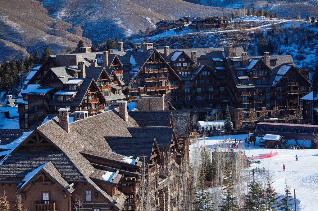 Stock Photo: 1566-1015144 USA, Colorado, Beaver Creek, Ritz Carlton Hotel, elevated view