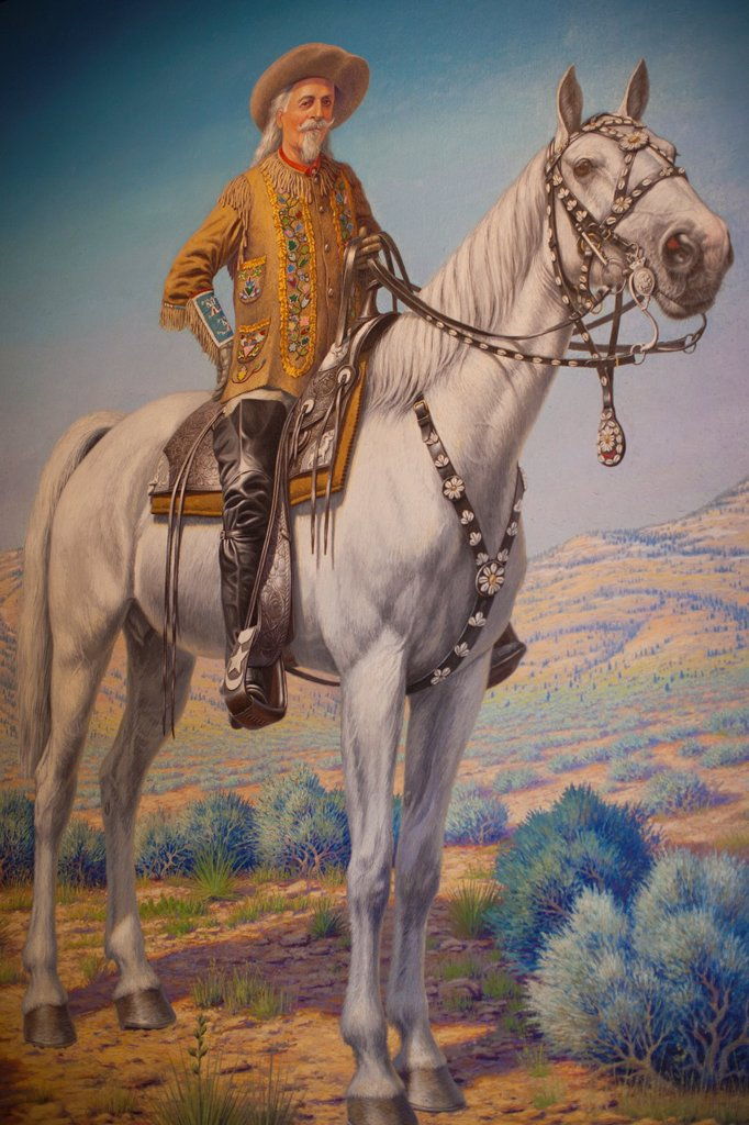 Stock Photo: 1566-1015191 USA, Colorado, Golden, Lookout Mountain, Buffalo Bill Museum, painting of Buffalo Bill