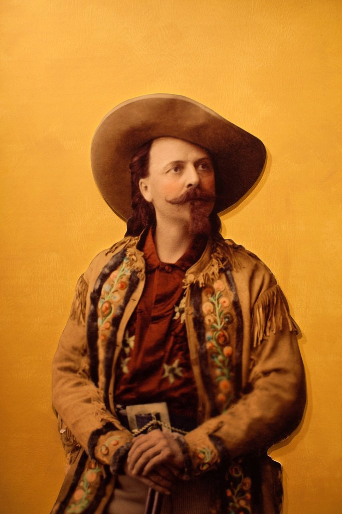 Stock Photo: 1566-1015192 USA, Colorado, Golden, Lookout Mountain, Buffalo Bill Museum, painting of Buffalo Bill