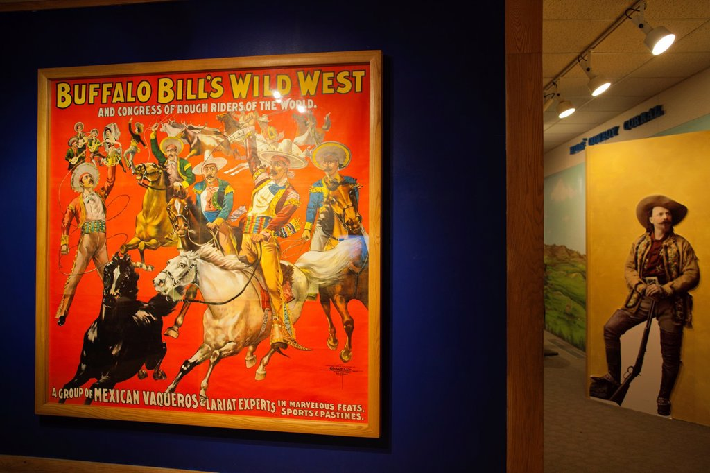 Stock Photo: 1566-1015194 USA, Colorado, Golden, Lookout Mountain, Buffalo Bill Museum, poster of Buffalo Bill´s Western Show