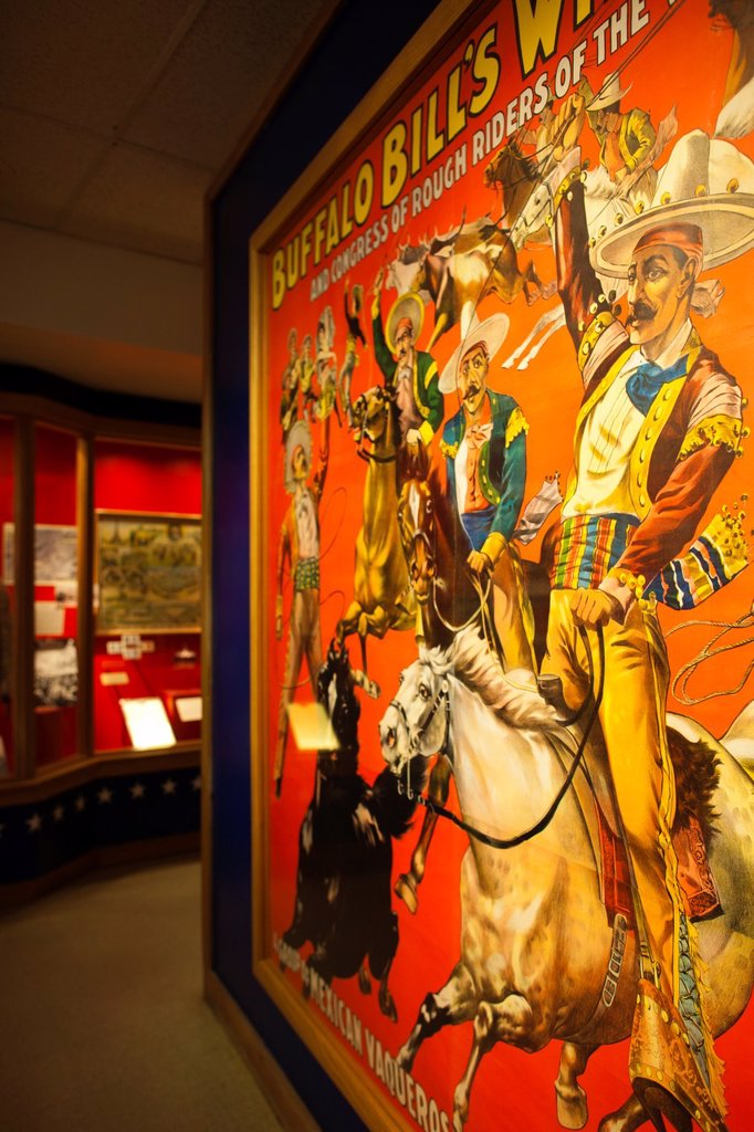 Stock Photo: 1566-1015195 USA, Colorado, Golden, Lookout Mountain, Buffalo Bill Museum, poster of Buffalo Bill´s Western Show