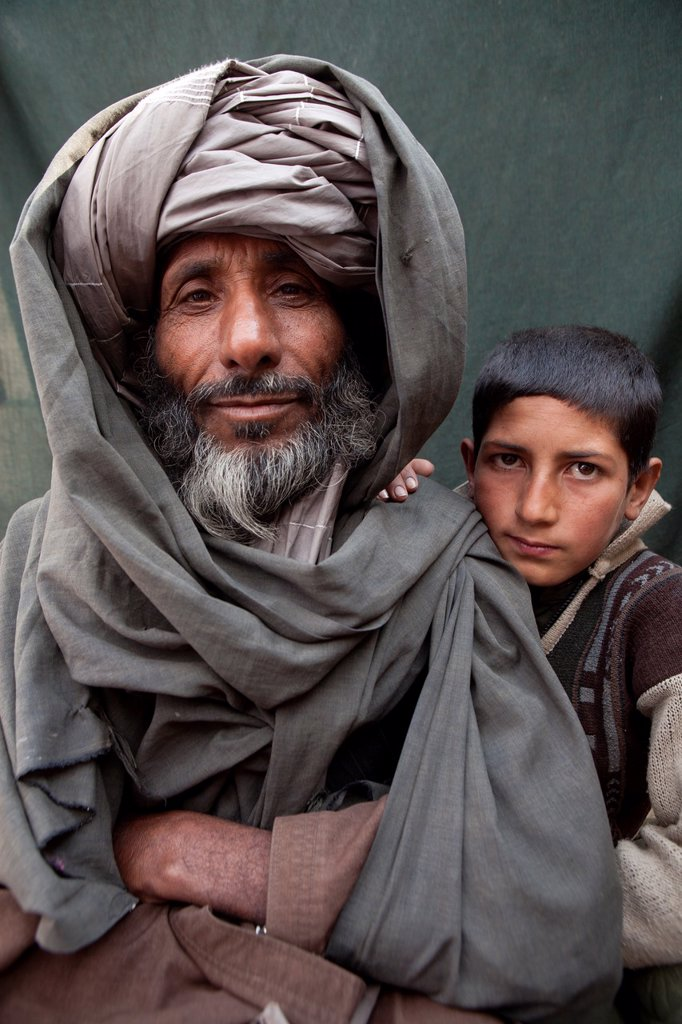 Portrait of an Afghaanse man : Stock Photo