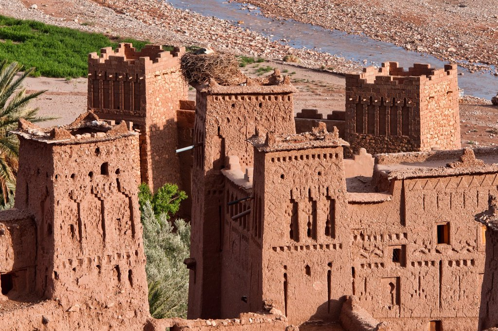 Stock Photo: 1566-1016014 the ancient kasbah of Ait Benhaddou UNESCO World Heritage Site, Morocco