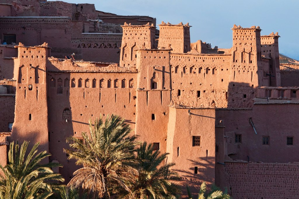 Stock Photo: 1566-1016015 the ancient kasbah of Ait Benhaddou UNESCO World Heritage Site, Morocco