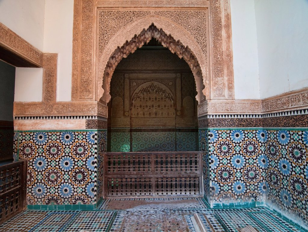 Stock Photo: 1566-1016200 amazing architecture at the Saadian Tombs in Marrakech, Morocco