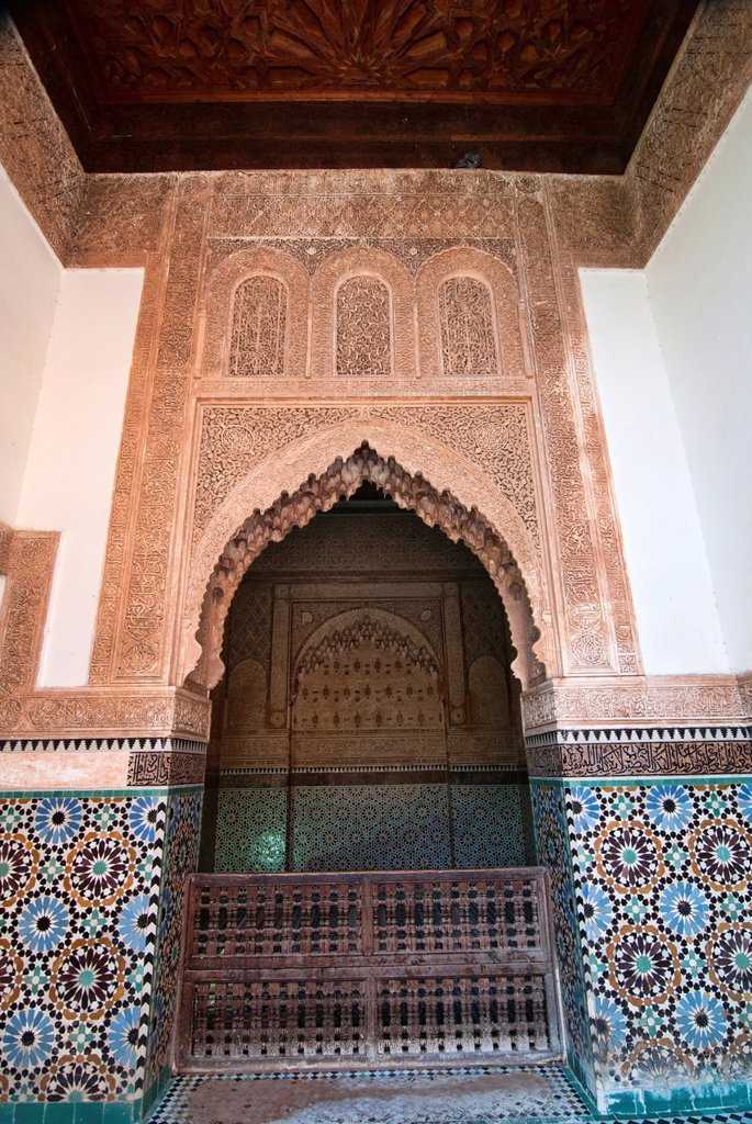 Stock Photo: 1566-1016201 amazing architecture at the Saadian Tombs in Marrakech, Morocco