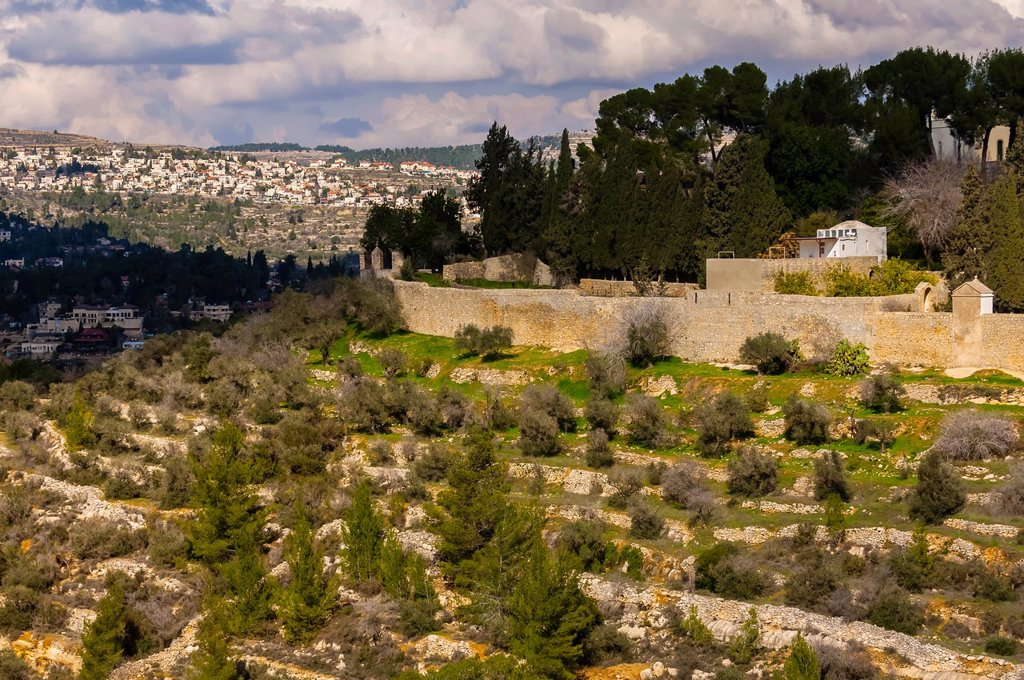 Ein Karem, village near Jerusalem birthplace of John the Baptist, Israel : Stock Photo