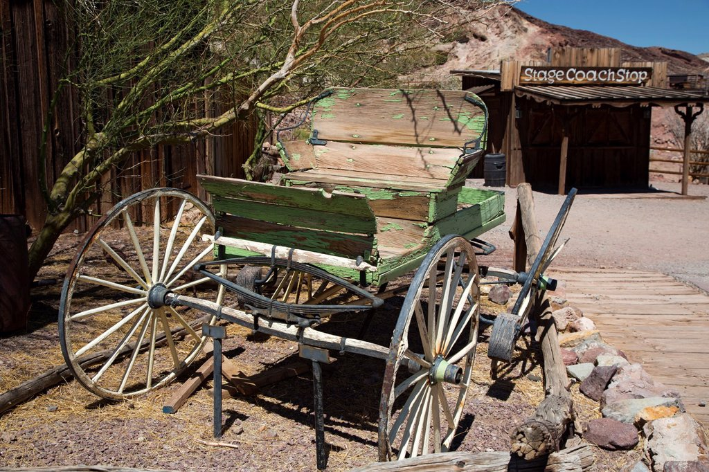Stock Photo: 1566-1017041 Barstow, California - Calico Ghost Town, an 1880s silver mining town in the Mojave Desert that has been restored as a tourist attraction