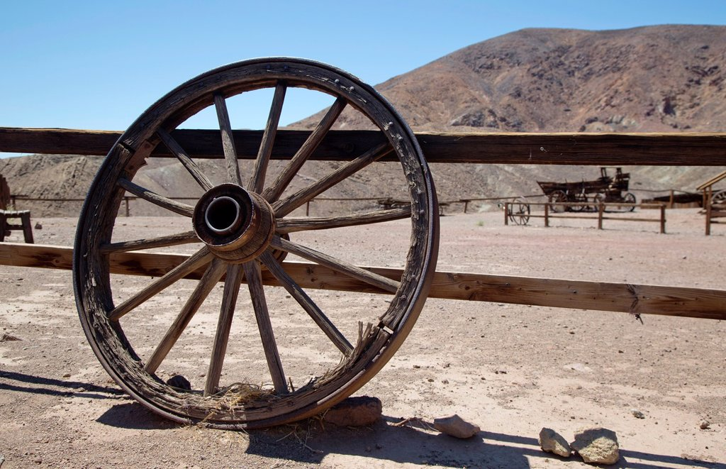 Stock Photo: 1566-1017045 Barstow, California - Calico Ghost Town, an 1880s silver mining town in the Mojave Desert that has been restored as a tourist attraction