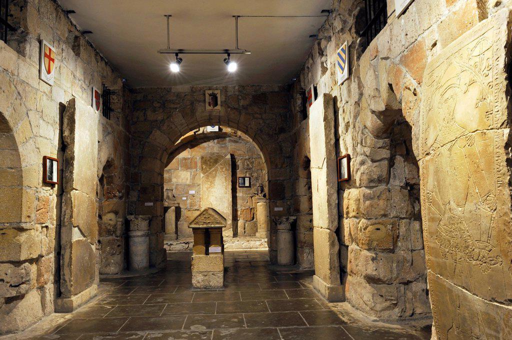 hall inside the Kolossi Castle, Limassol, Cyprus, Eastern Mediterranean Sea : Stock Photo