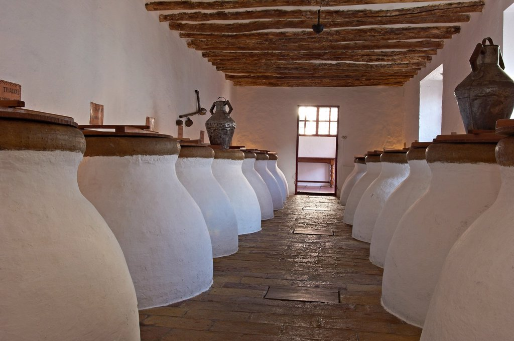 Stock Photo: 1566-1018741 Baena, Olive oil Cellar  Núñez de Prado, Route of the Caliphate, Cordoba province, Andalusia, Spain