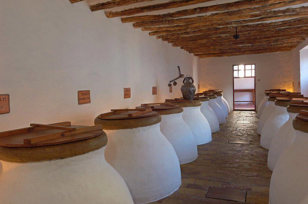 Baena, Olive oil Cellar  Núñez de Prado, Route of the Caliphate, Cordoba province, Andalusia, Spain : Stock Photo