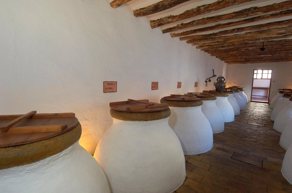 Stock Photo: 1566-1018746 Baena, Olive oil Cellar  Núñez de Prado, Route of the Caliphate, Cordoba province, Andalusia, Spain