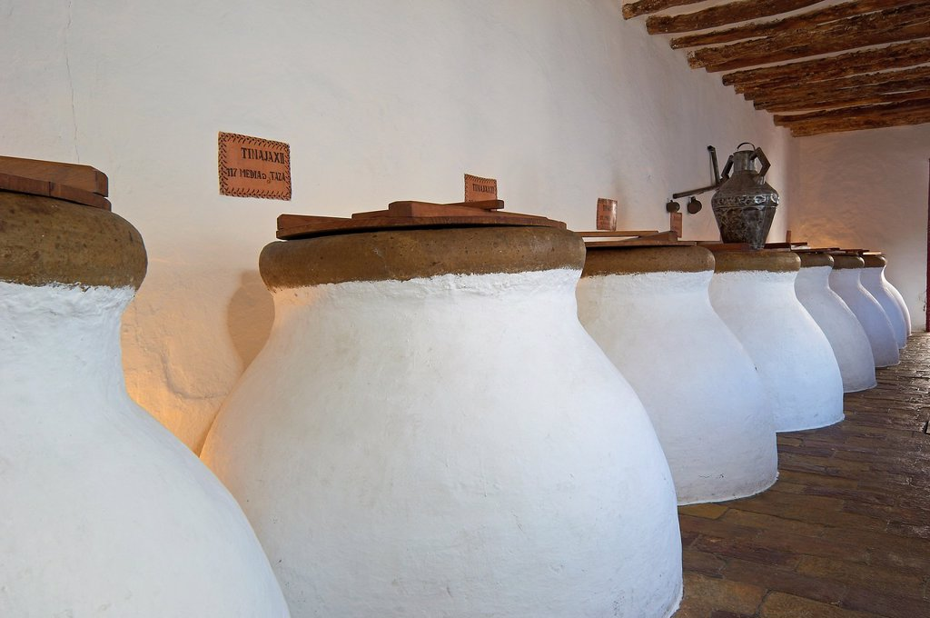 Stock Photo: 1566-1018748 Baena, Olive oil Cellar  Núñez de Prado, Route of the Caliphate, Cordoba province, Andalusia, Spain