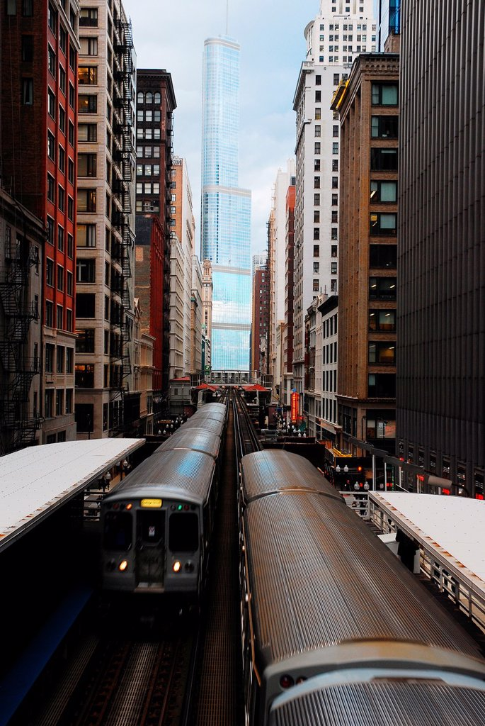 Stock Photo: 1566-1019529 EL Train, Chicago