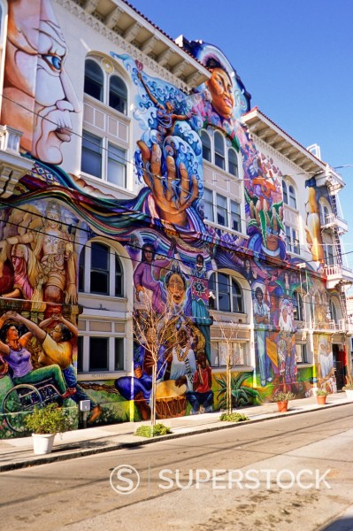 San Francisco, California - Mural, Women´s Building, Mission District : Stock Photo