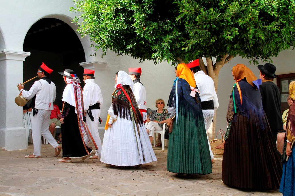 Stock Photo: 1566-1019796 Spain , balearic island , Ibiza , spanish traditional costumes