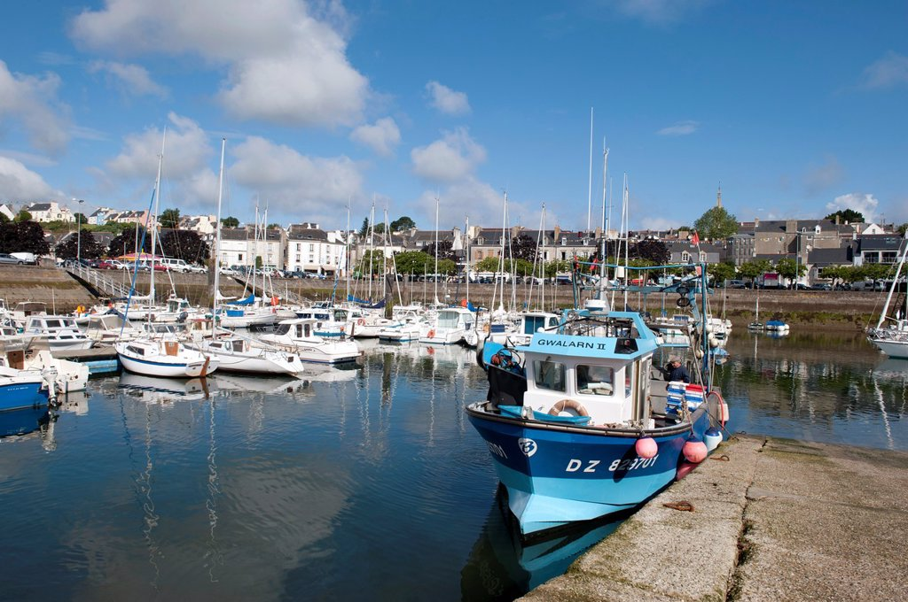The port , Douarnenez France : Stock Photo