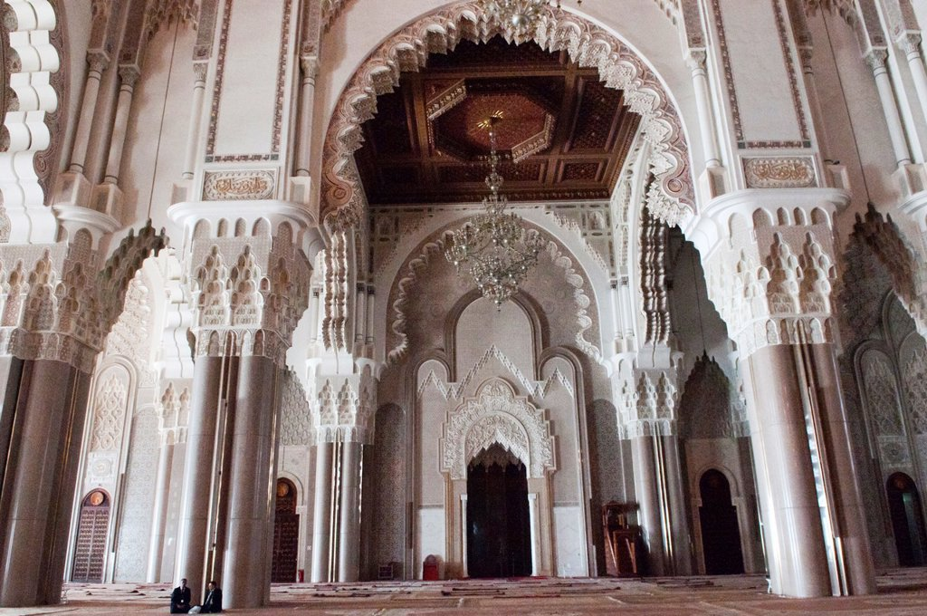 Stock Photo: 1566-1020431 interior of the Hassan II Mosque in Casablanca, Morocco