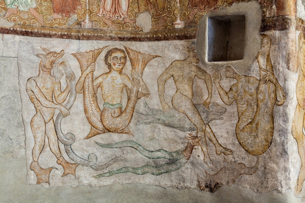 Stock Photo: 1566-1020813 Saint Jokab in Kastelaz, a unique little church in south Tyrol near Merano and Tramin The frescos are of international importance and are dating back to romanic and gothic times Especially the rendering of phantastic, hybrid creatures are an awesome examp. Saint Jokab in Kastelaz, a unique little church in south Tyrol near Merano and Tramin The frescos are of international importance and are dating back to romanic and gothic times Especially the rendering of phantastic, hybrid creatures are an a
