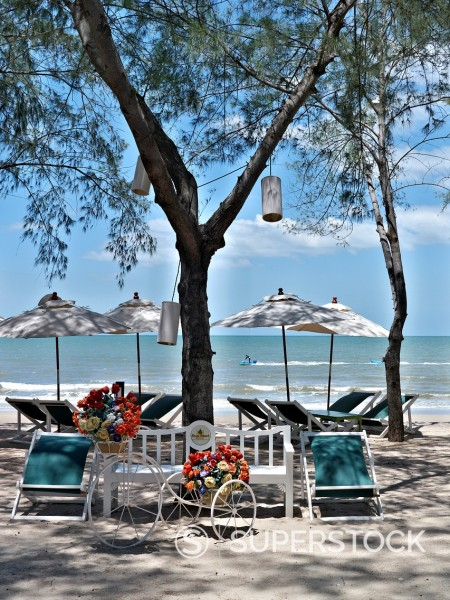 Stock Photo: 1566-1020993 Cha-am beach Phetchaburi Thailand S  E  Asia