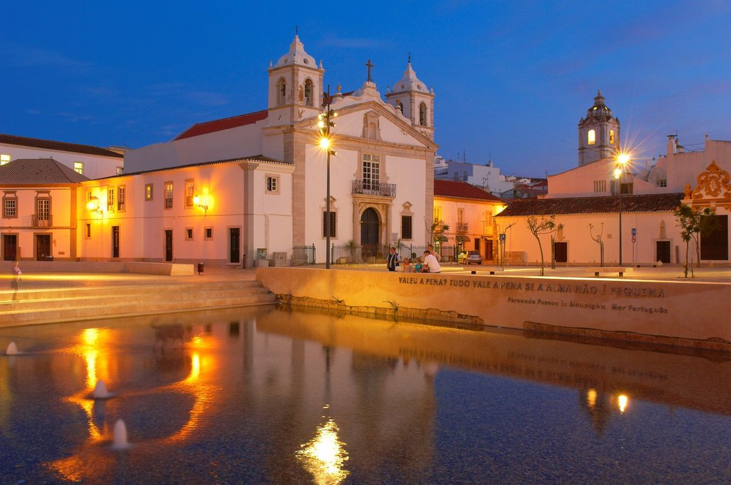 Lagos, Santa Maria Church, Infante dom Enrique Square, Algarve, Portugal, Europe : Stock Photo