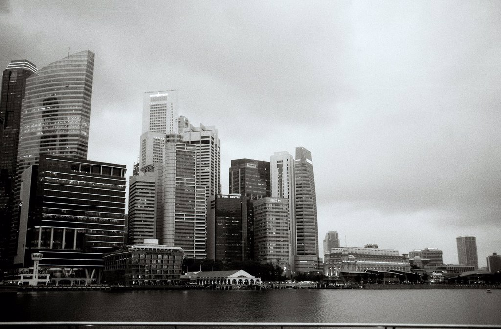 Stock Photo: 1566-1021700 Central Business District skyscrapers on the Singapore skyline