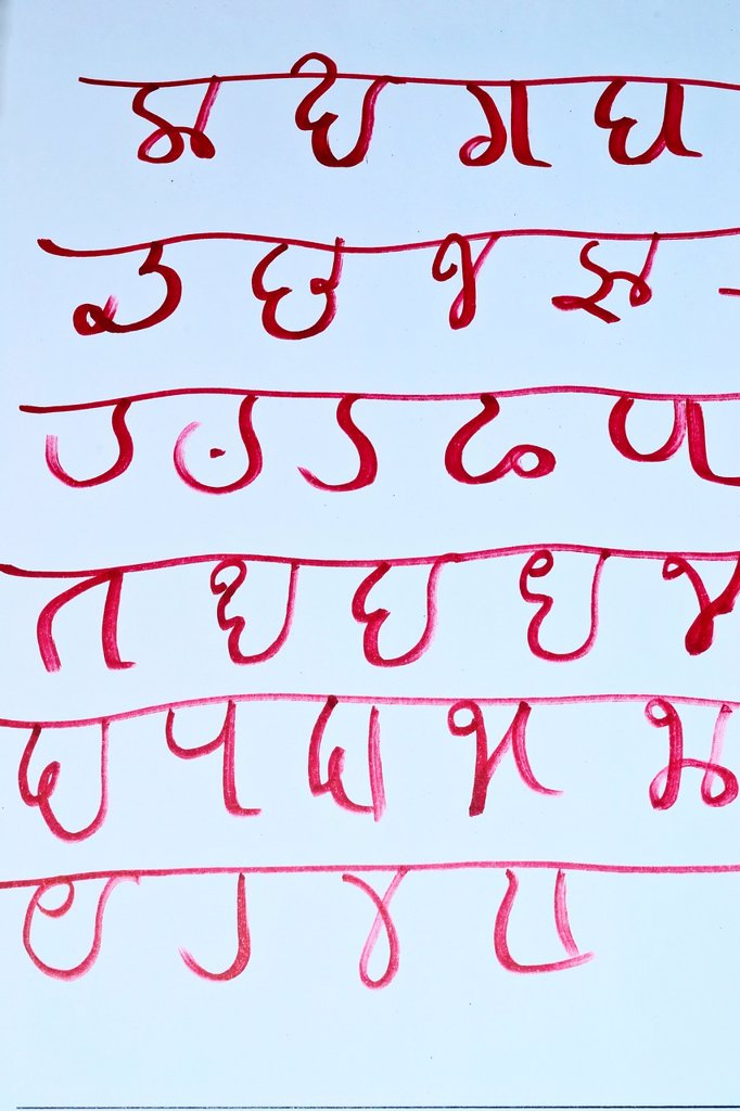 Stock Photo: 1566-1021808 The Modi script was used to write the Marathi language spoken in the Indian state of Maharashtra  It originated as a cursive variant of the script during the 17th century CE  Modi was used until the 1950´s when Devanagari replaced it as the written medium. The Modi script was used to write the Marathi language spoken in the Indian state of Maharashtra  It originated as a cursive variant of the script during the 17th century CE  Modi was used until the 1950´s when Devanagari replaced it as the wr
