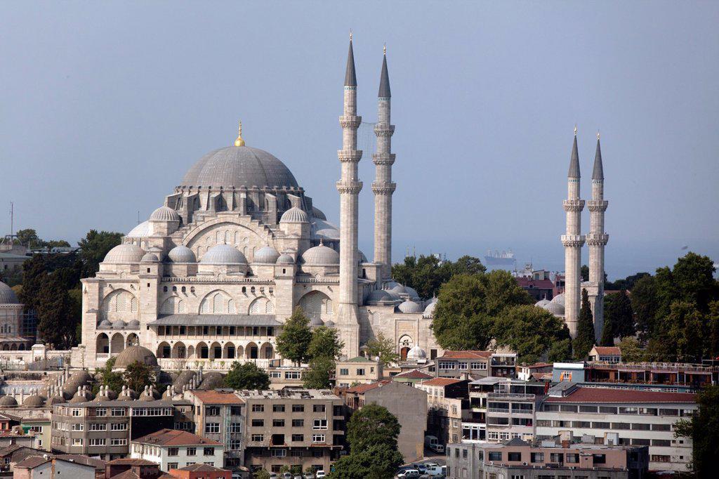 Stock Photo: 1566-1022075 sultanahmetcami Suleman mosque, Istanbul