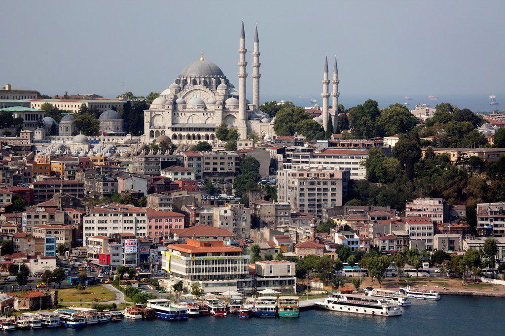 Stock Photo: 1566-1022078 sultanahmetcami Suleman mosque, Istanbul