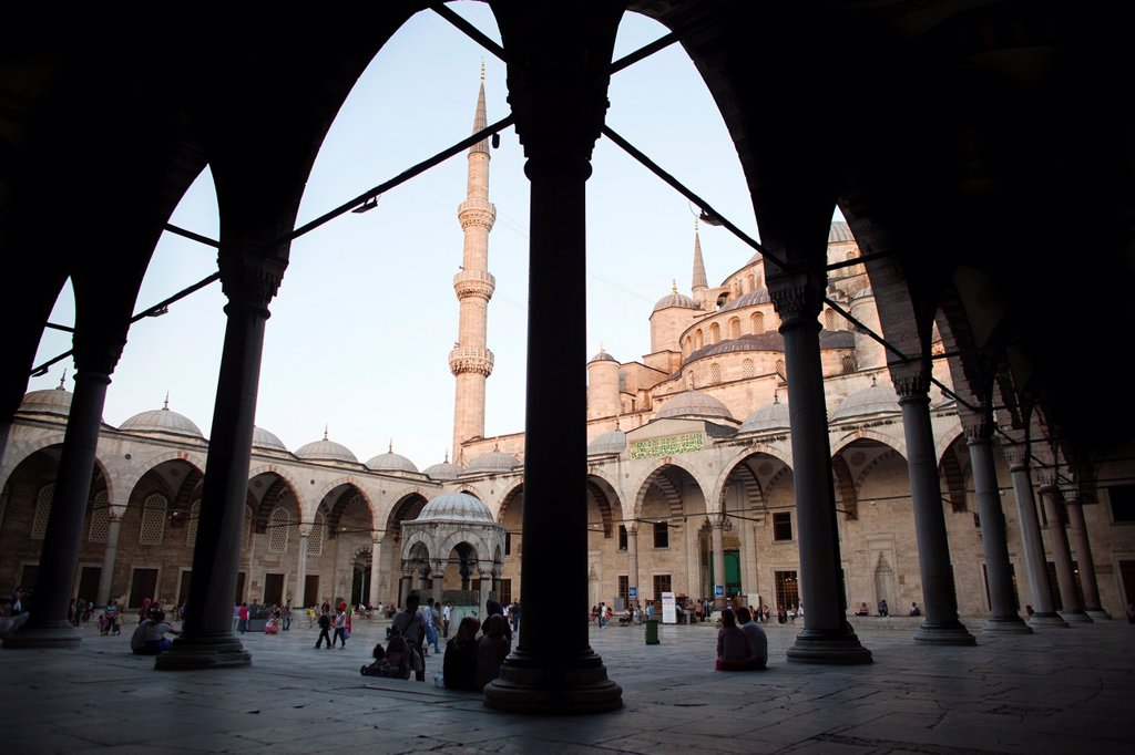 Stock Photo: 1566-1022089 blue mosque, Istanbul