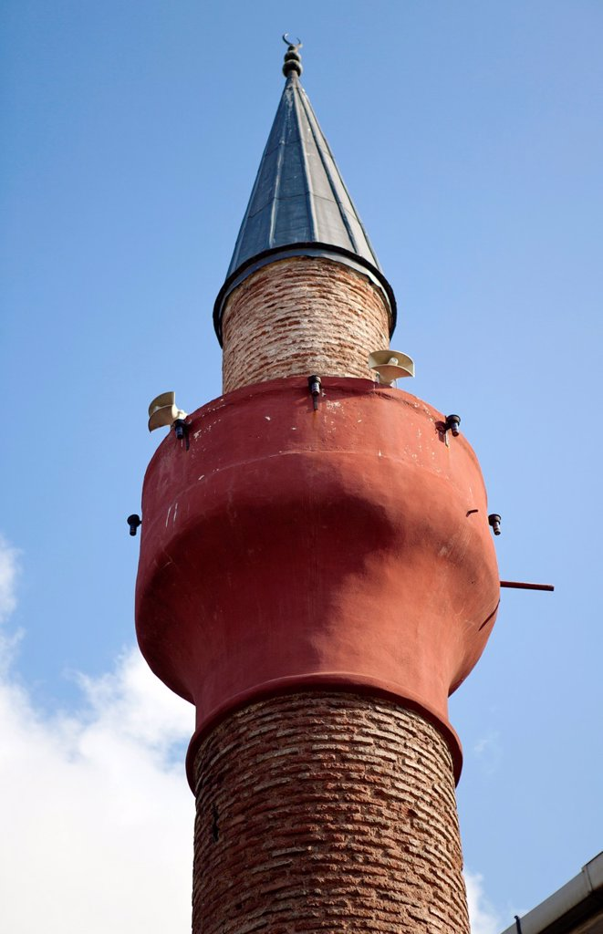 Stock Photo: 1566-1022171 old minaret in istanbul
