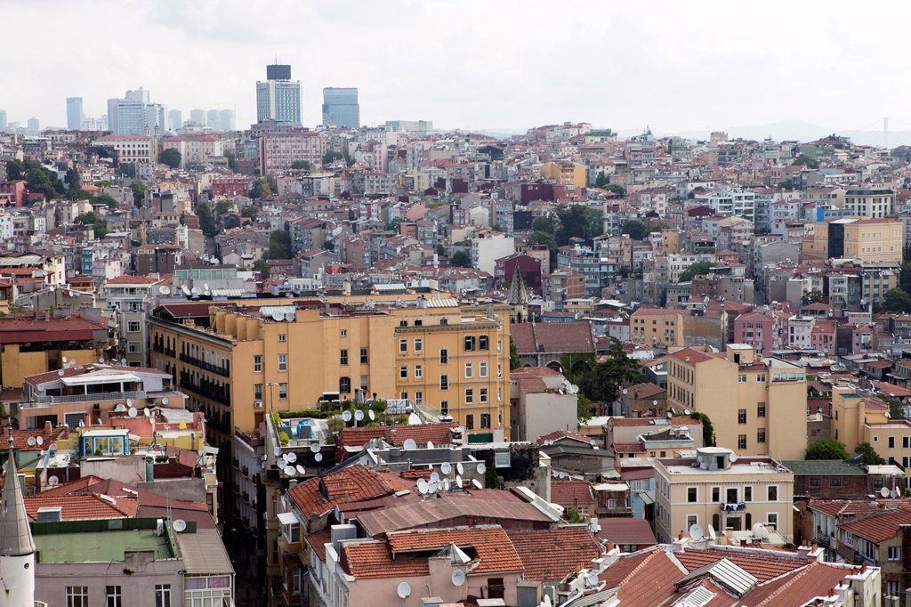 Stock Photo: 1566-1022215 view from the Galata tower, Istanbul